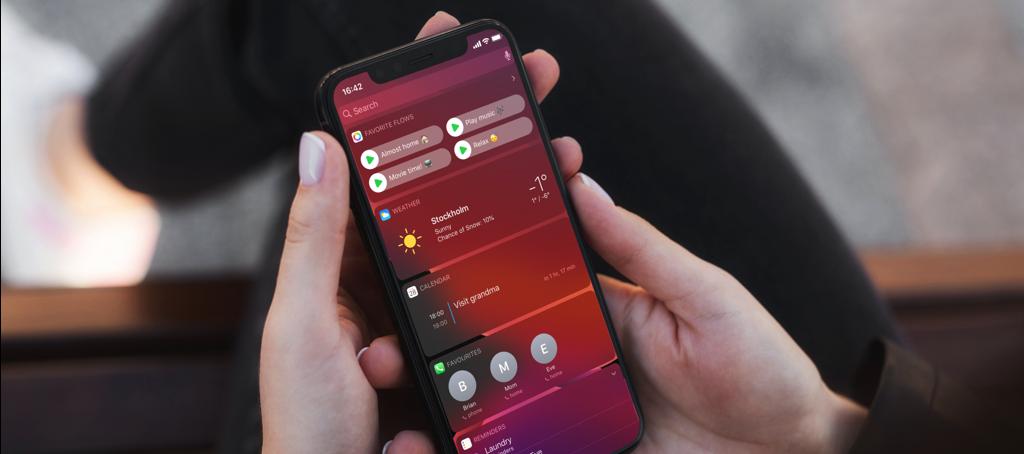Homey app widgets