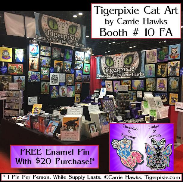 MegaCon 2021 Tigerpixie Cat Art Booth # 10 FA