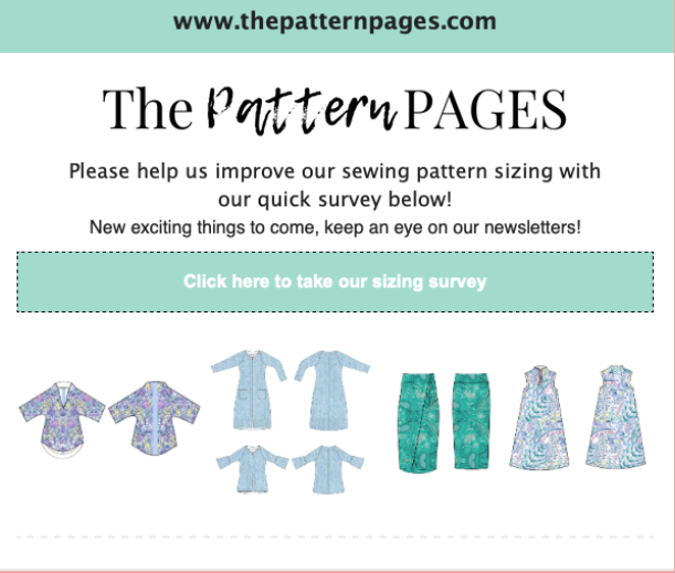 Pattern pages pattern size survey