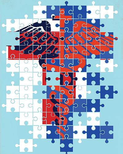 Illustration on President Trump's health care agenda by Linas Garsys/The Washington Times