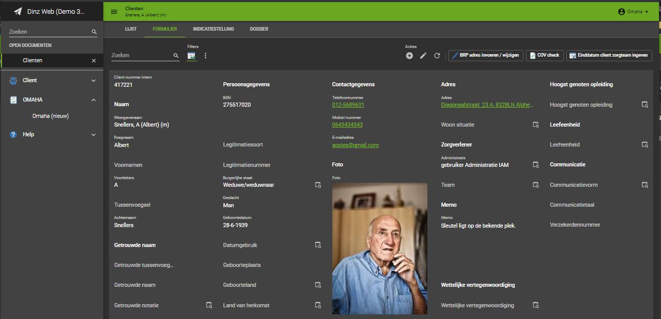 Nieuwe interface Dinz Web