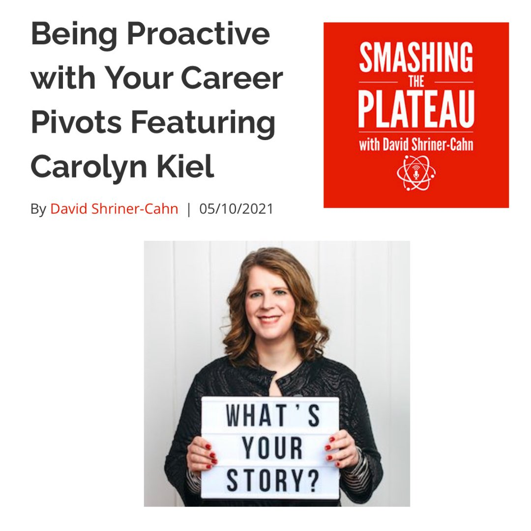 Smashing the Plateau podcast with Carolyn
