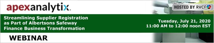 Webinar: Streamlining Supplier Registration as Part of Albertsons Safeway Finance Business Transformation