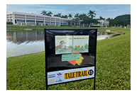 tale trail poster outside of library
