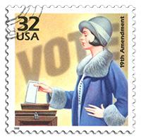 stamp of 19th amendment