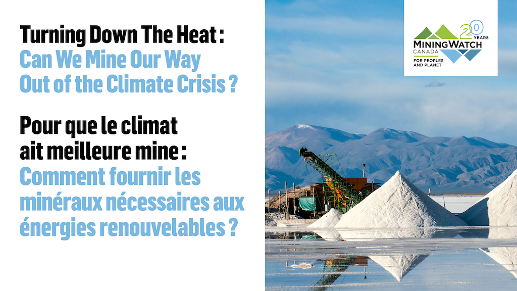 "Conference Report Published: ""Turning Down the Heat: Can We Mine Our Way Out of the Climate Crisis?"""
