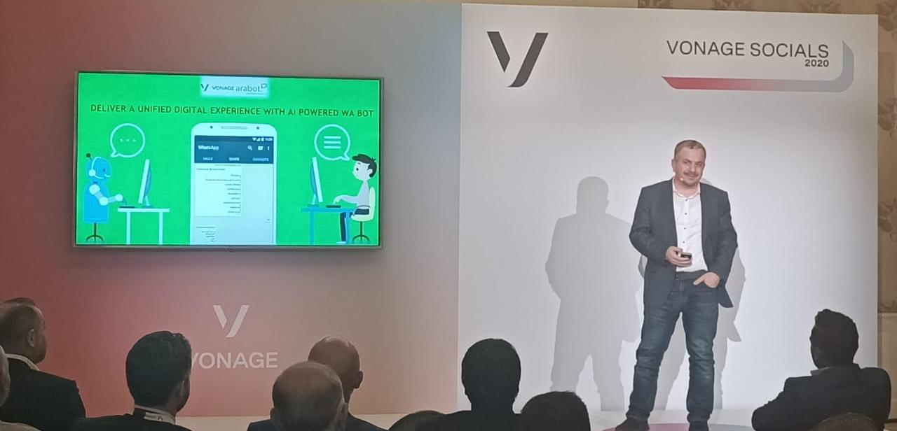 Abdallah Faza Speaks at Vonage Socials 2020