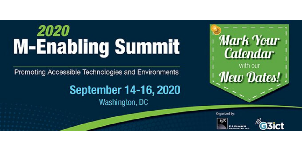 2020 M-Enabling Summit. Mark your calendar with new dates!