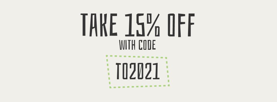 Take 15% off with code TO2021