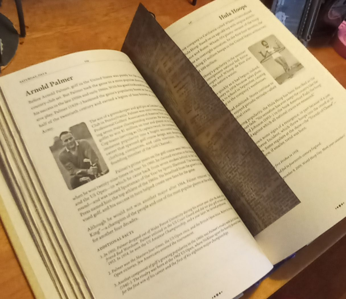 Dictionary bookmark in a book