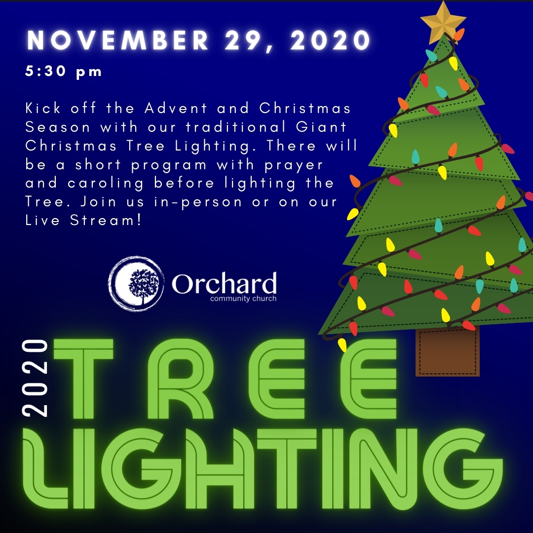 Annual Giant Christmas Tree Lighting - November 29 at 5:30 pm. Join us in person or on a live stream.