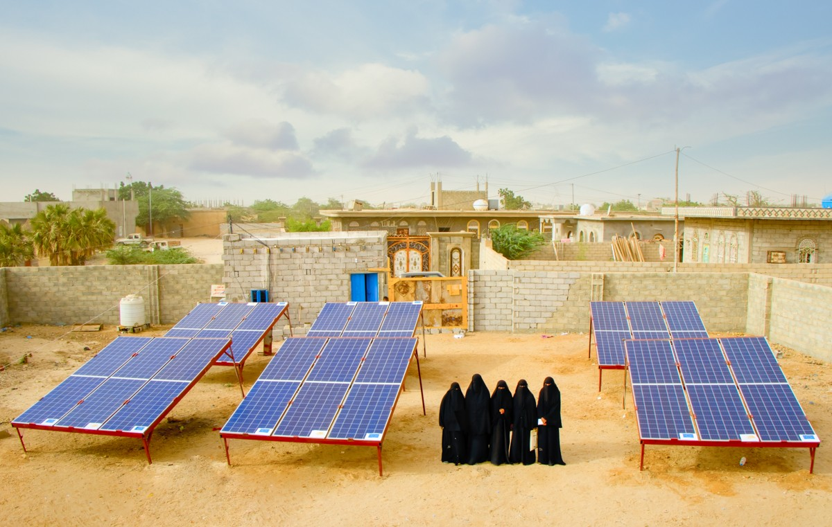 UNDP has worked with the women and youth to develop micro-grid businesses to help electrify their communities one home and business at a time. Photo: UNDP Yemen