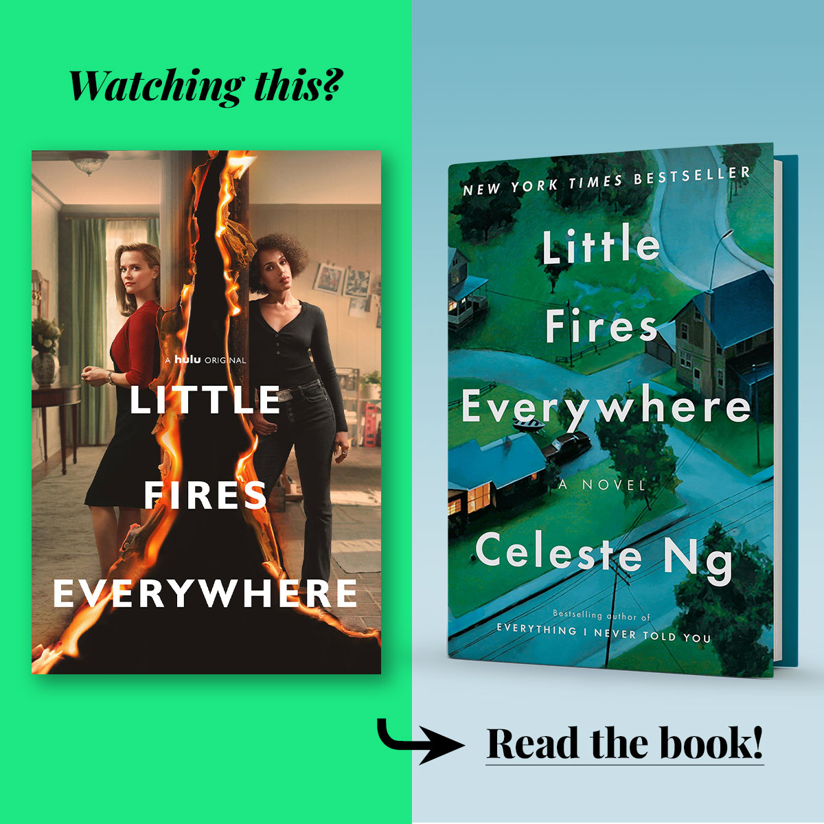 Little Fires Everywhere by Celeste Ng • Series streaming on Hulu