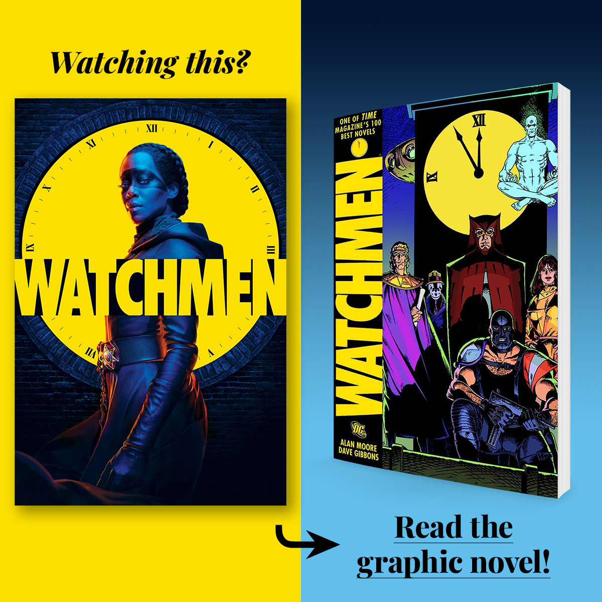 Watchmen by Alan Moore and Dave Gibbons • Adaptation streaming on HBO