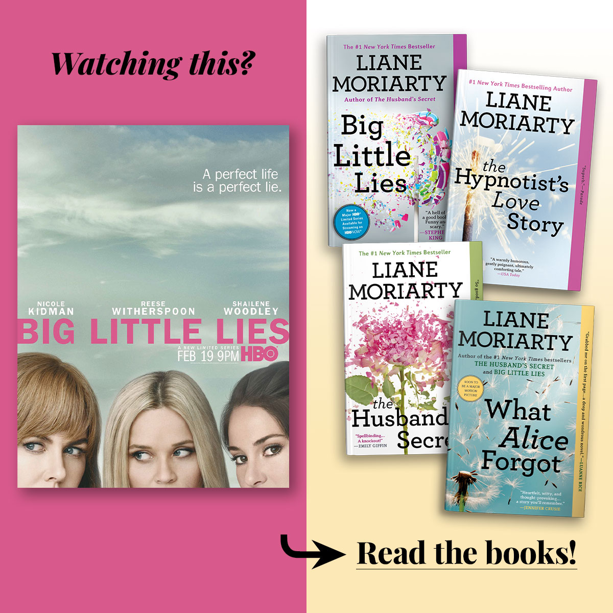 Big Little Lies by Liane Moriarty • Series streaming on HBO