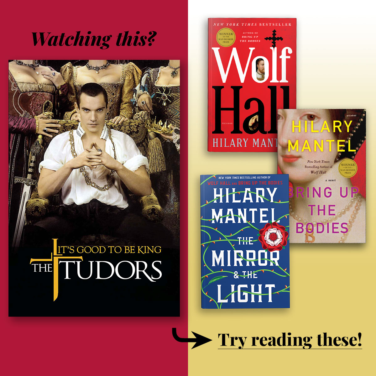 The Tudors streaming on Showtime • Try reading the Wolf Hall Trilogy by Hilary Mantel