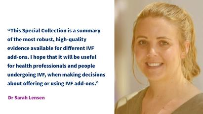 IVF add-ons Dr Sarah Lensen