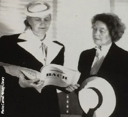 Image of two historic women