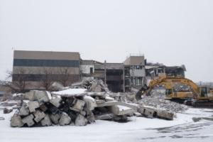 Denver Water administration building demolishing.