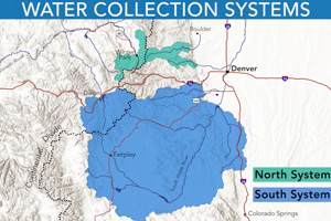Water collection system north and south map.