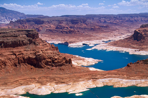 Lake powell at low levels