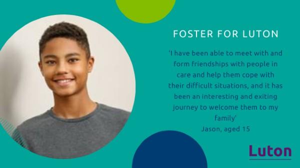 Jason, whose parents foster