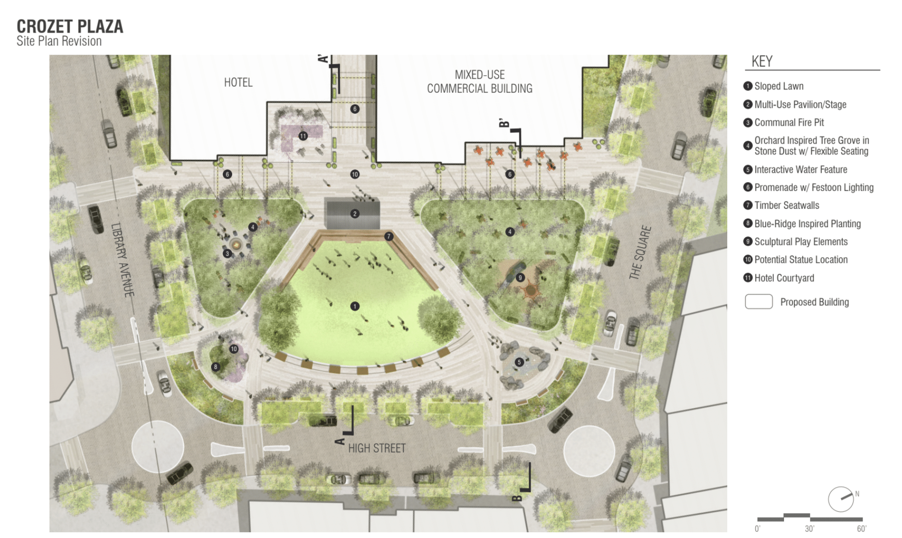 Picture of proposed Crozet Plaza site plan revision