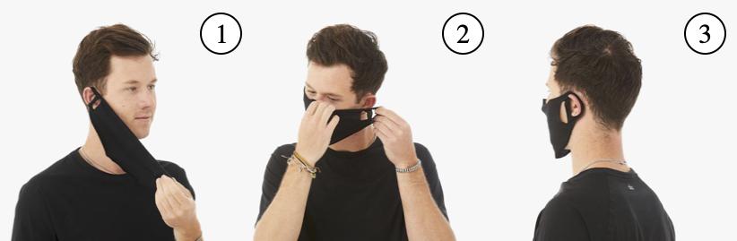 <Mask Instructional Diagram>