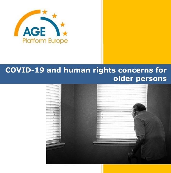 Portada del informe de AGE sobre los derechos humanos de las personas mayores durante COVID-19