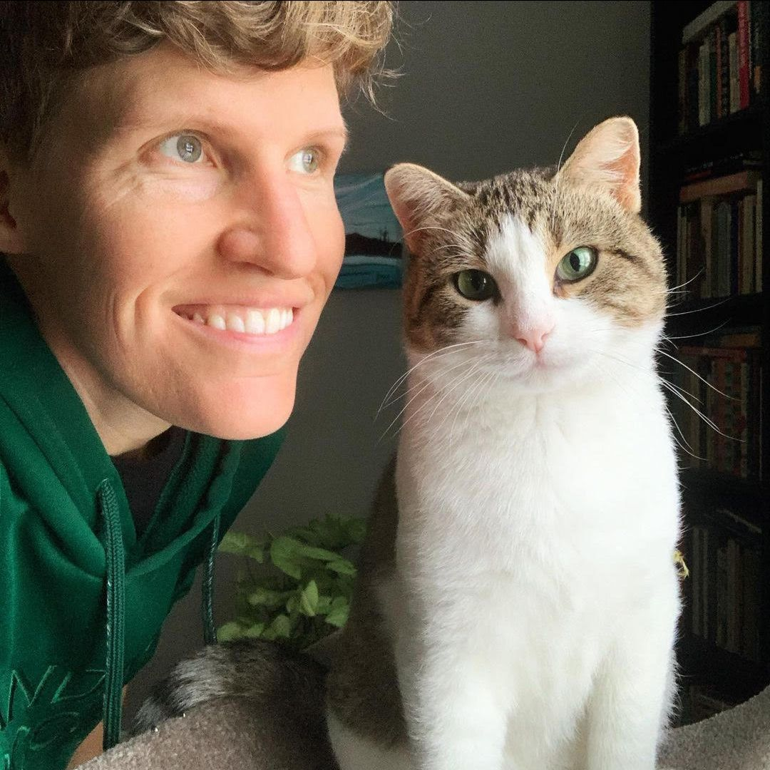 NDP MLA Janis Irwin's cat Oregano is one of the furry guests set to headline the Edmonton International Cat Festival. (Supplied)