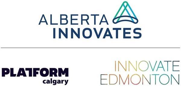 Logos of Alberta Innovates, Innovate Edmonton, Platform Calgary.