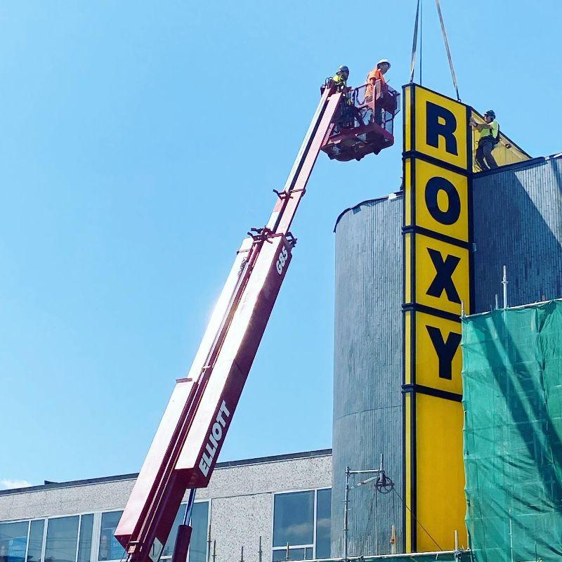 The Roxy sign rises again