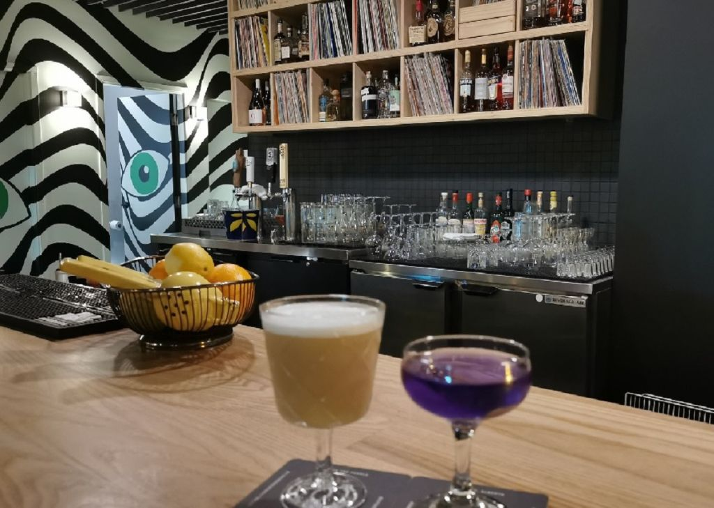 A picture of drinks at Fleisch Delikatessen.