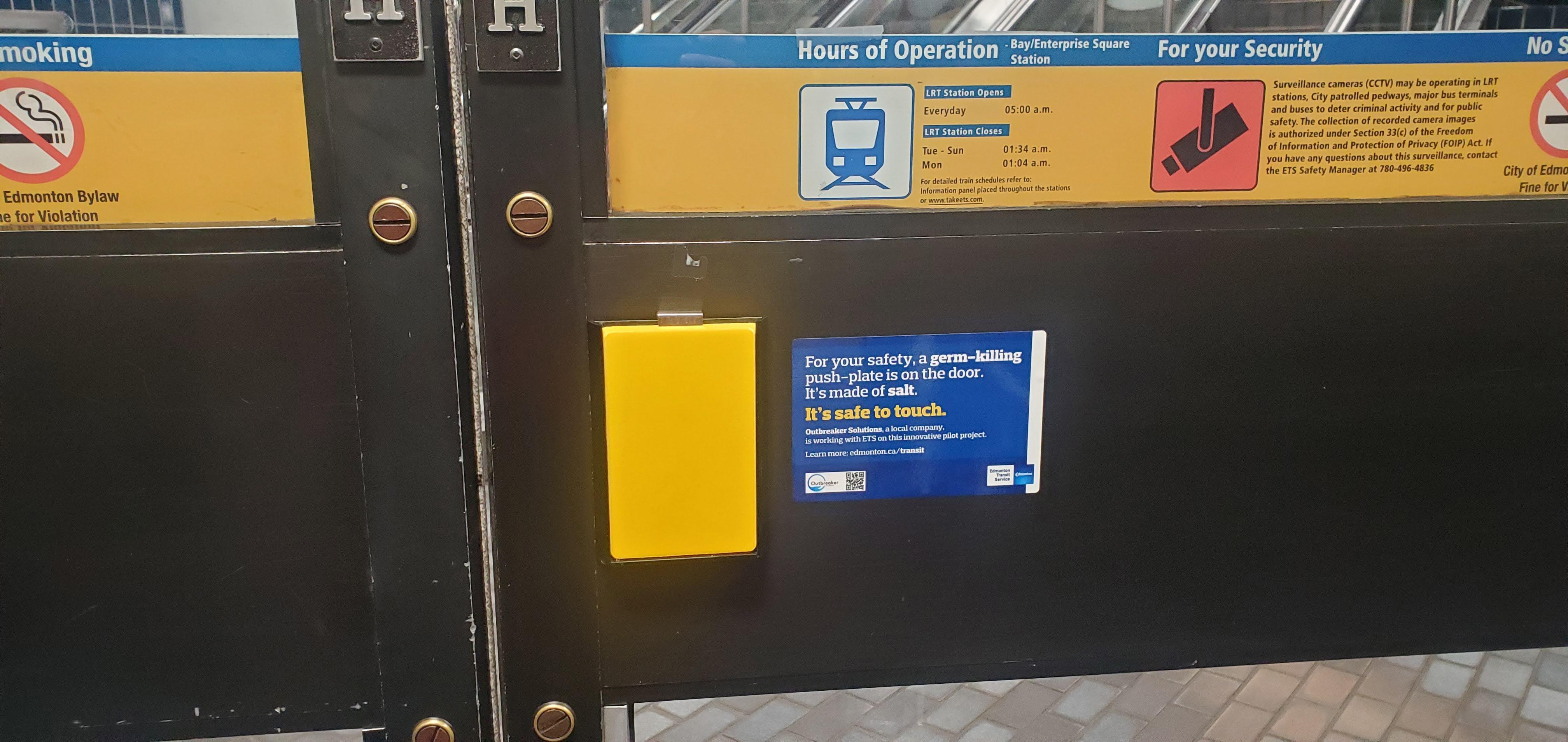 'Innovative germ-killing biotechnology' rolling out at select Edmonton transit stations