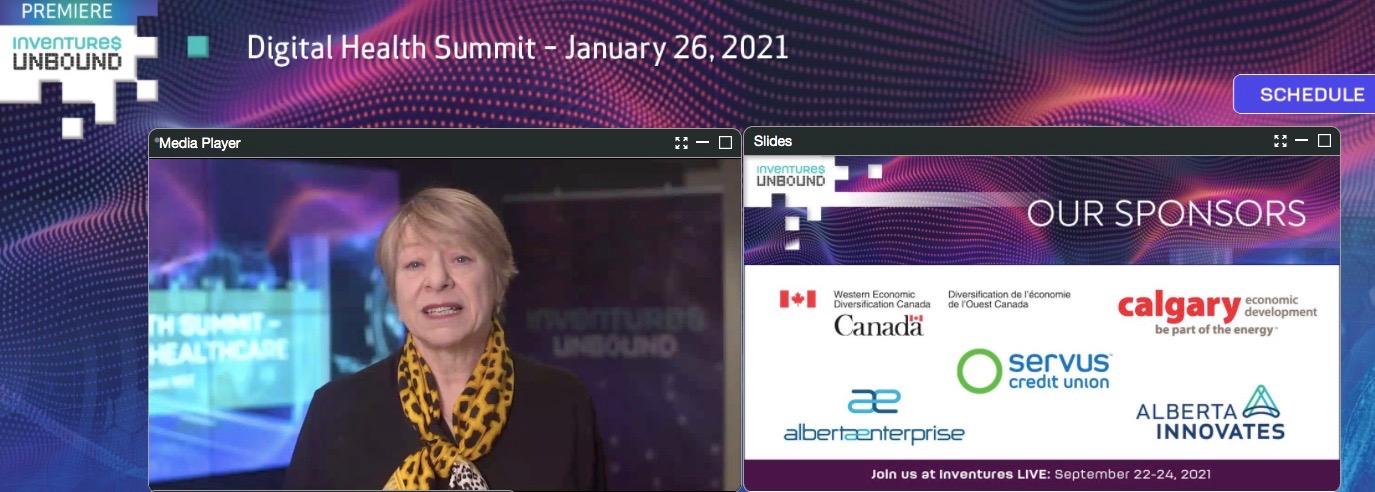 Alberta Innovates CEO Laura Kilcrease presents at the summit. (Hiba Kamal-Choufi)