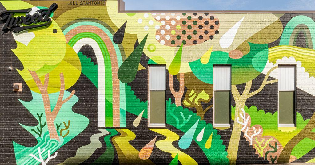 Jill Stanton's Green Forest Wall.