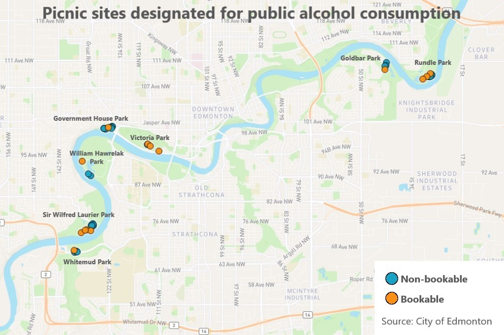 Rundown: Edmontonians can now drink alcohol in some public parks