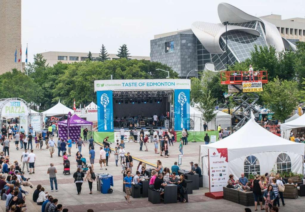 Taste of Edmonton at Churchill Square in 2017