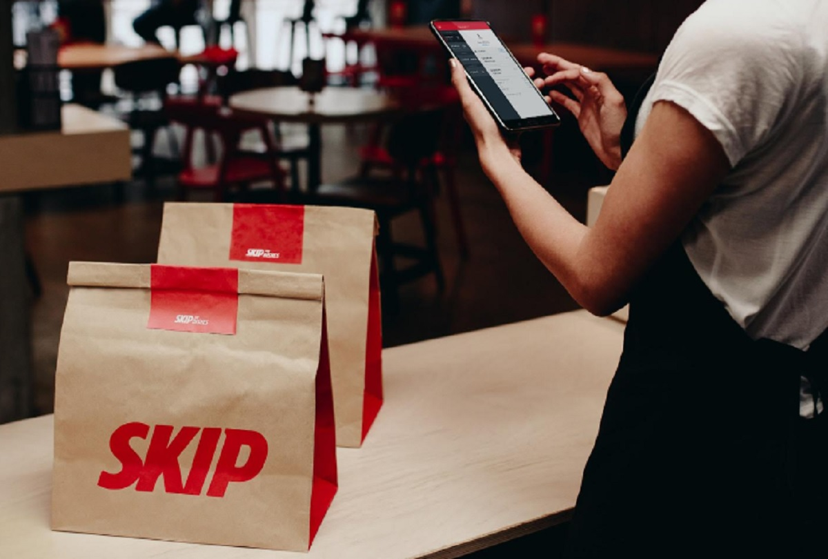 Take-out food deliverers are among the groups excluded from new benefit. (Courtesy of Skip the Dishes)