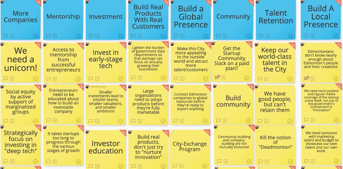 The Stormboard for Edmonton's innovation community. (Stormboard)