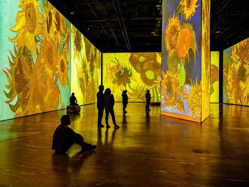 A photo from the Imagine Van Gogh exhibit.