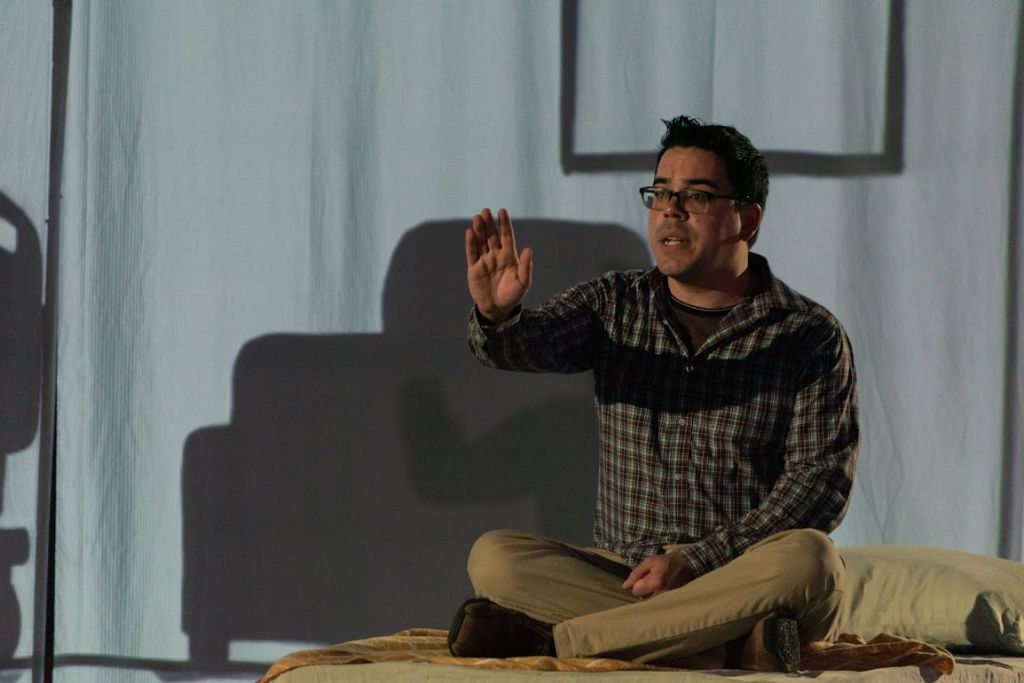 Josh Languedoc stars as both titular characters in his solo show, Rocko and Nakota: Tales from the Land. (Thousand Faces Festival)