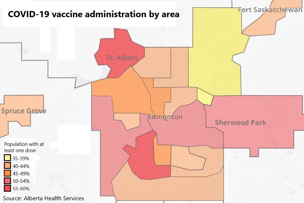 Chart of the week: Edmonton's vaccine inequity