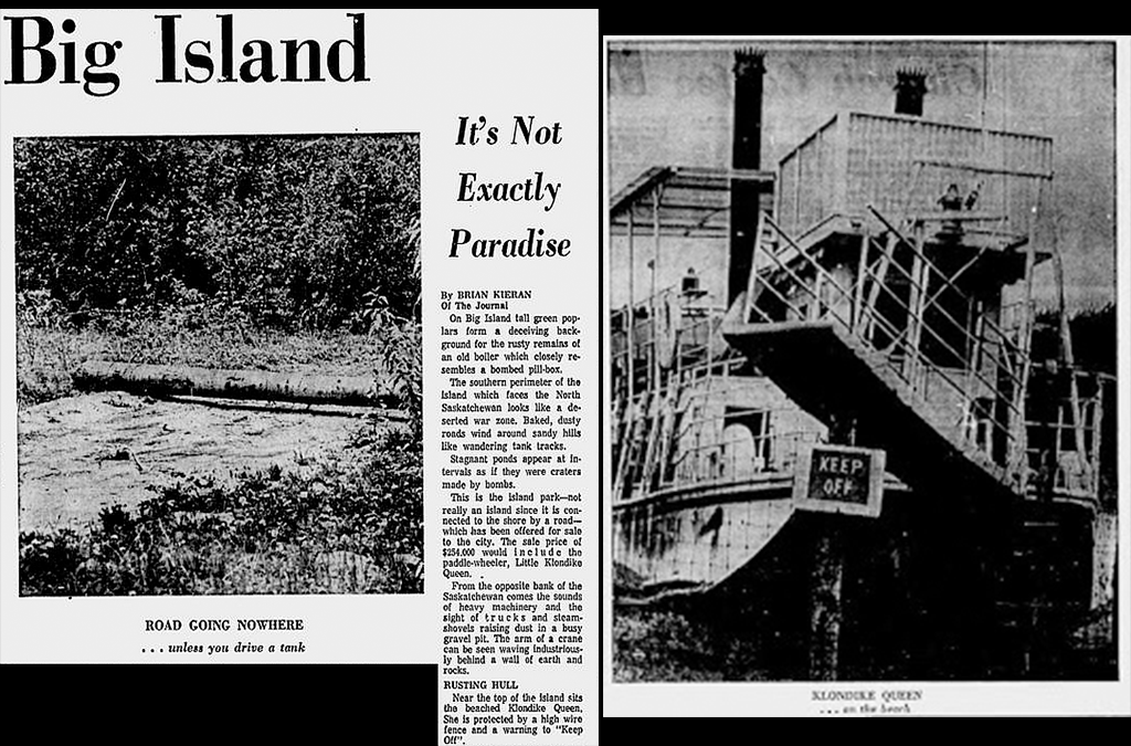 A newspaper clipping about Big Island.
