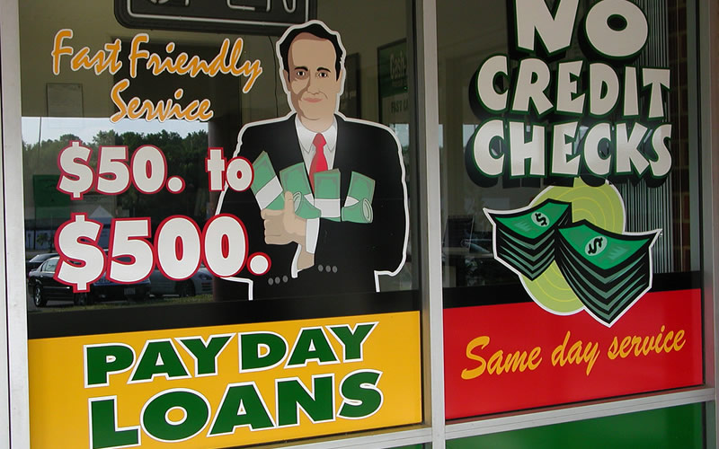 Sign advertising payday loans