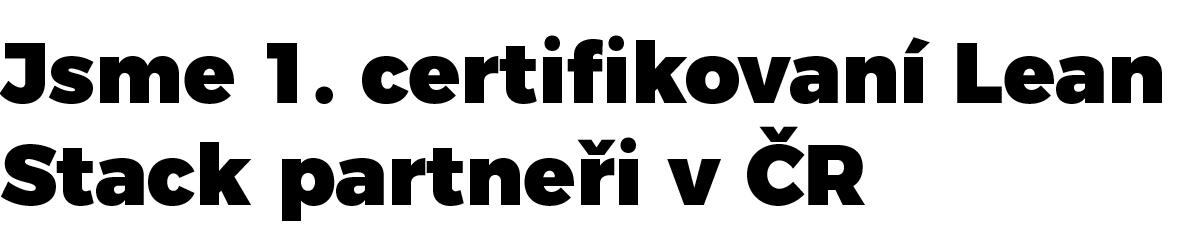 Jsme první certifikovaní Lean Stack Partneři v ČR