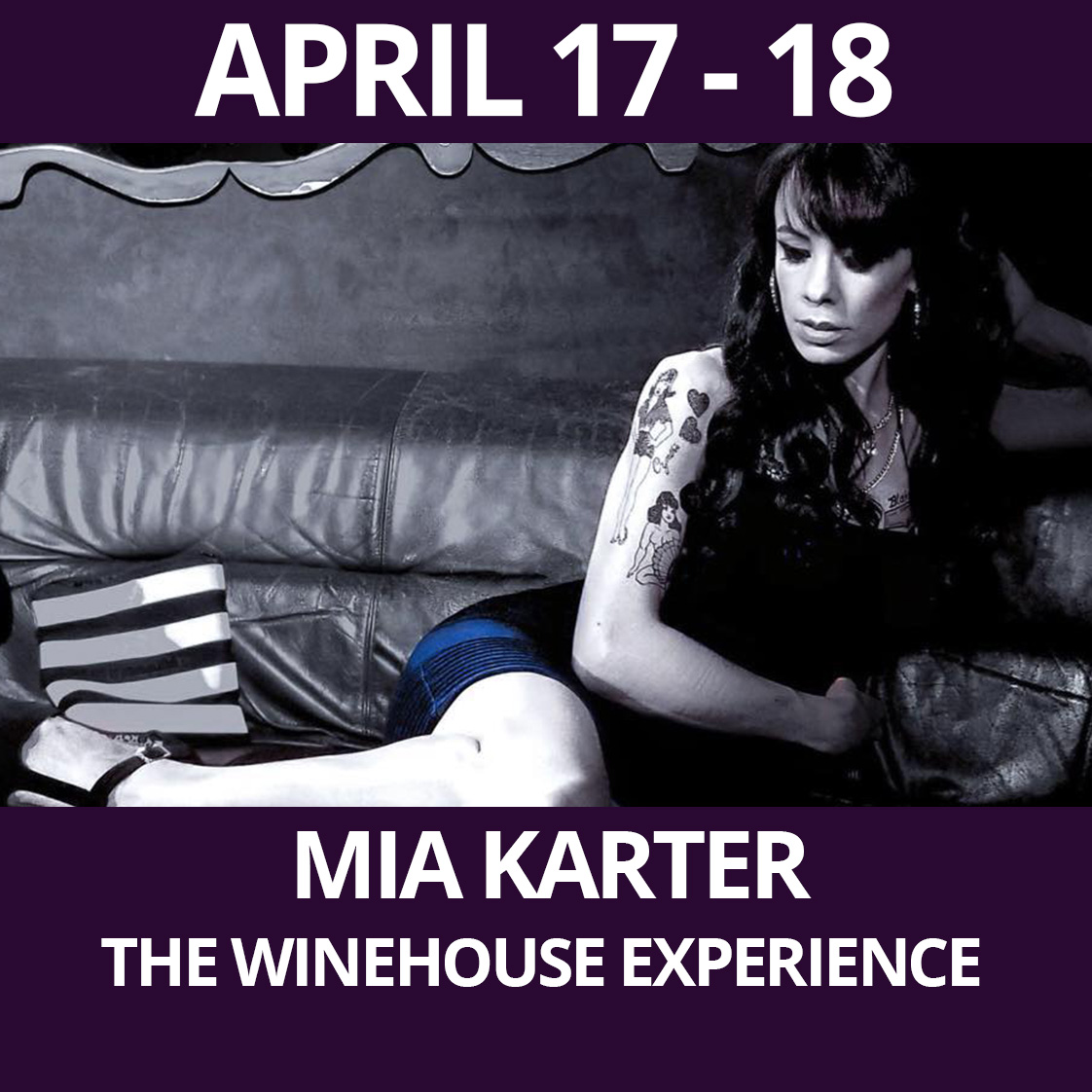 Mia Karter: The Winehouse Experience Presented at The Purple Room Palm Springs