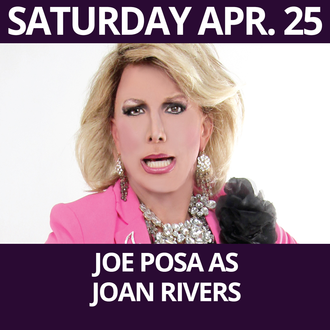 Joan Posa as Joan Rivers Performs at The Purple Room Palm Springs
