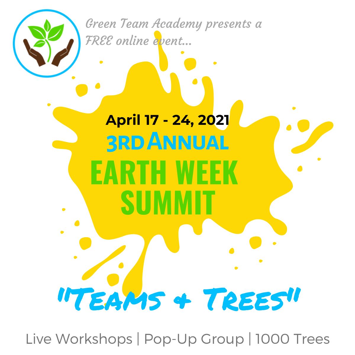 Earth Week Summit advertisement