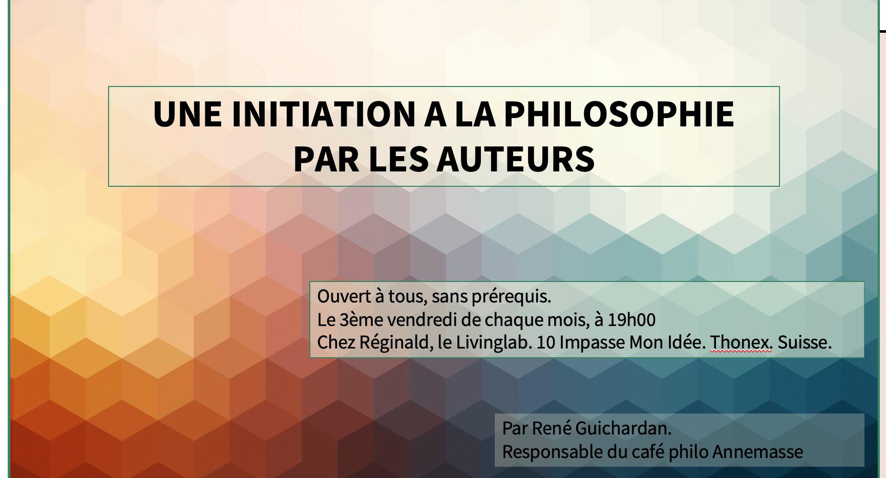Initiation à la philosophie par les auteurs.